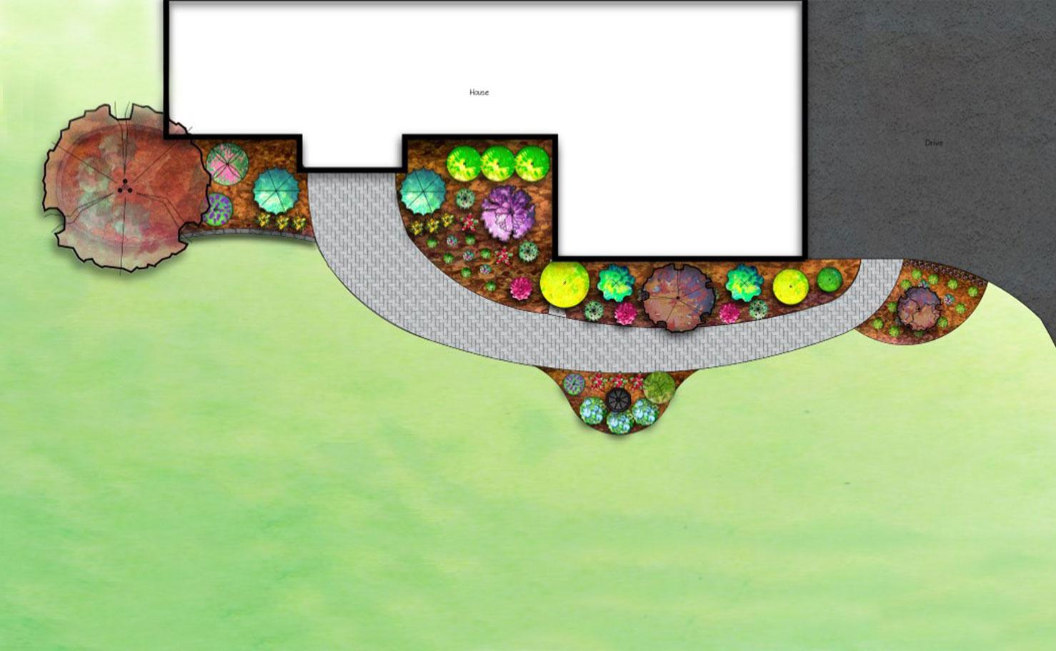 Entryway Planting Design